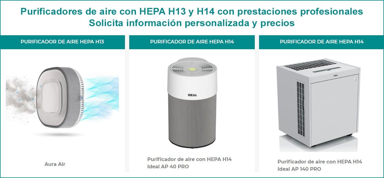 Purificadores de aire hepa h13 y h14
