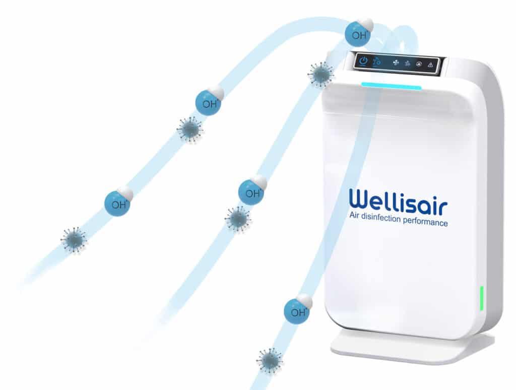 Wellisair purificador aire hidroxilos